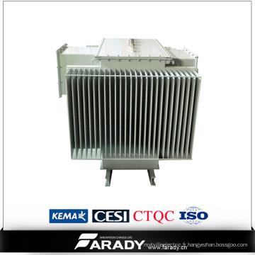 Transformateur d'huile triphasé de 10 kVA