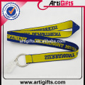 Promotional polyester thick woven lanyard
