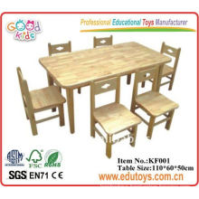 Nursery School Furniture Wooden Desk and Chair For Child