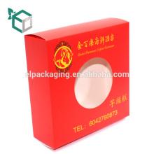 Impresión en color Pantone de alta calidad con experiencia en la impresión de logotipos plegables caja de rosca simple