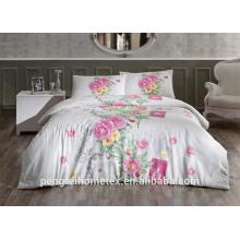 Tela de roupa de cama impressa personalizada com poliéster elegante
