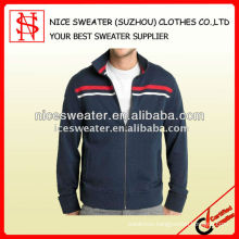 Mens 100%cotton knitted cardigan