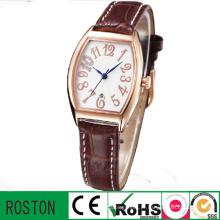 Relógio de liga de zinco quadrado luxo unissex