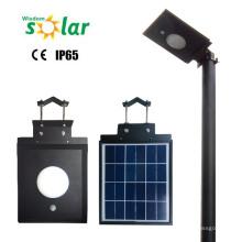 5W led luz solar, luz de calle solar con movimiento de PIR, Sensor de luz solar al aire libre del led