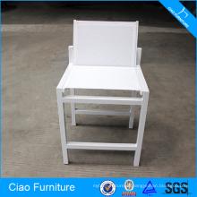 Mobiliário de jardim Cadeira alta de malha branca