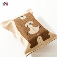 Caixa de tecido de linho diferentes padrões bonitos