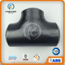 Alta calidad ASME B16.9 extremo soldado con autógena guarnición de tubo de acero de carbono te montaje (KT0297)
