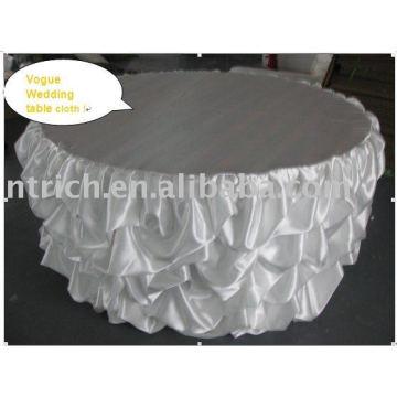 Weiße Hochzeit-Tischdecke