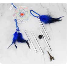 Carillon a vento Dream Catcher fatto a mano con piume