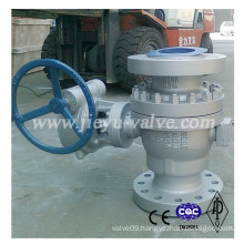 Cast Steel Wcb RF Fix Trunnion Mounted Ball Valve