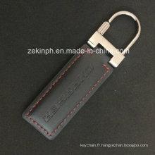 Porte-clés Fashion métal et cuir