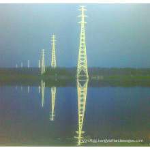 500kv Linear Power Transmission Lattice Tower