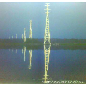 500kv Linear Power Transmission Lattice Tower