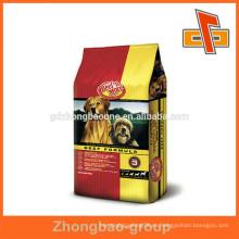 Diversa clase de bolso de la comida de animal doméstico de la forma del bolso / empaquetado plástico del embalaje del alimento de animal doméstico