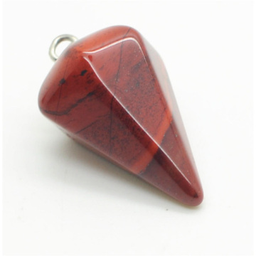 6 Side coin Shape Red Jasper pendant 30*20mm