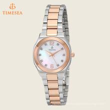 Reloj análogo de diamante de mujer japonés reloj de dos tonos de acero inoxidable 71203