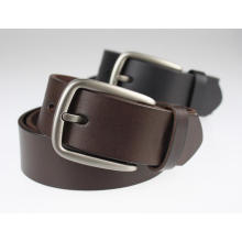 Pin buckle black leahter belt police belt