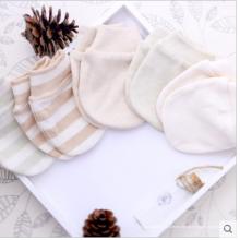 Guantes de bebé recién nacido de algodón orgánico 100% para 0-6 meses