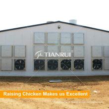 Fazendo a porta do ventilador de refrigeração da exploração agrícola da galinha para casas das aves domésticas