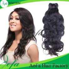 100% unverarbeitete natürliche Welle reines Haar Menschenhaarverlängerung