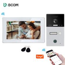 Bcom wifi tuya door bell intercom multi appartment villa waterproof videeo doorbell
