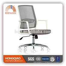 CM-B206BSW-1 maille mi-dos tissu siège accoudoir personnel chaise chrome métal chaise de bureau