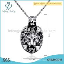 New animal skull pendant,leo men's necklace pendant,skull head pendant