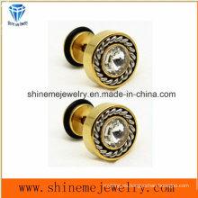 Shineme joyería de moda de acero inoxidable pendiente pendiente de perno prisionero (ER2915)
