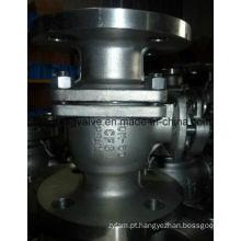 Válvula de esfera de extremidade de flange de 10k com aço inoxidável