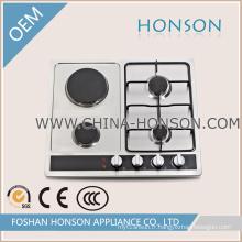 Table de cuisson à gaz à deux brûleurs et deux plaques de cuisson à gaz