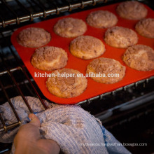 Hot Selling Food Grade Durable Non-stick Shaped 12 Cups Silicone Muffin Baking Pan Round/Bakeware Silicone Muffin Pan