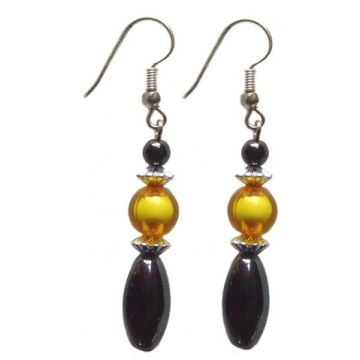 Hematite Rice Earring