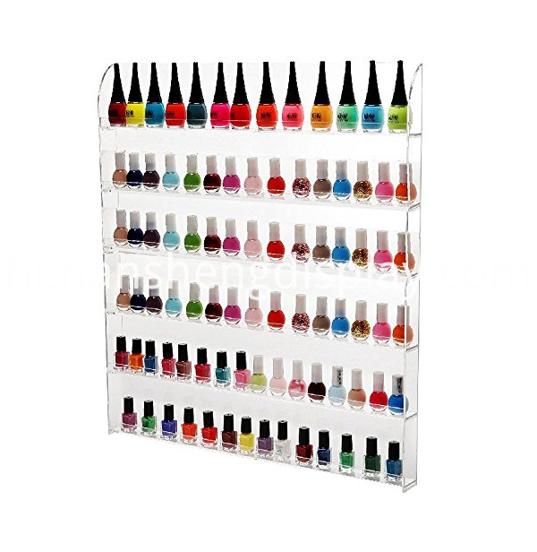 Clear Acrylic Nail Polish Rack