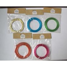 Plástico colorido PET revestido de metal vinculativo fio (xs-132)