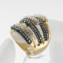 New Arrival 3 layers full rhinestone Fingers Ring 100% Excellent Quality gold plated wholesale