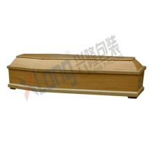 Satin Interior Oak Veneer Assembled Ready Full Open Coffin