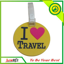 Custom Fashion Colorful PVC Luggage Tag, Rubber Luggage Tag