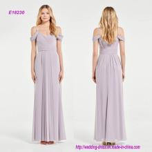 Stunning Draped Shoulder Grecian Style Bridesmaid Dress