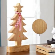 Décoration d'intérieur de table en bois de décoration d'arbre en bois de boutique