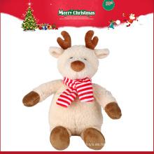 2016 juguetes de peluche de renos de Navidad con cornamentas