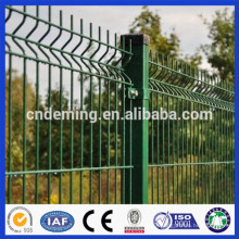 pvc-coated 100*200mm v folded welded curved wire mesh fence panel