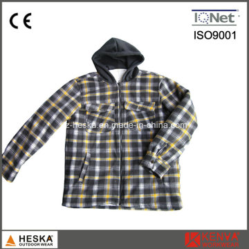 New Style hiver Long manchon Plaid capuche chemise