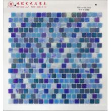 Mosaico de vidro Mistura azul de irídio