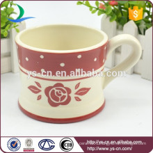 Wholesale ceramic red decal tea cup