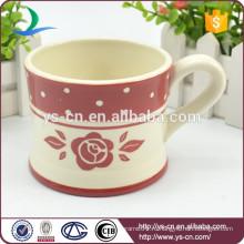 Оптовая керамическая красная чайная чашка для декаля