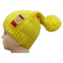 Knitted Beanie with Patch NTD1605