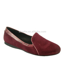 Genuine Leather wine color dress shoes women