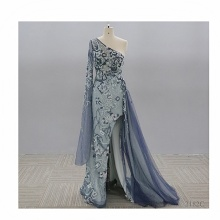 Beautiful Lace Mother of the Bride Dresses Long Chiffon Turquoise Bridesmaid Dress