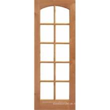 10 lite gewölbten oberen Holz Glas Französisch Tür innen