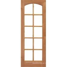 10 lite vidro em arco de madeira superior francês porta Interior